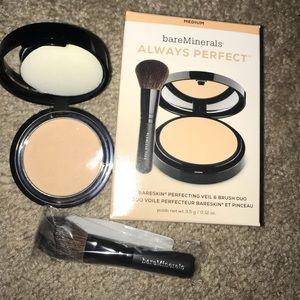 BareMinerals Always Perfect veil & brush kit NEW